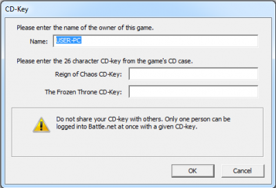 warcraft 3 frozen throne battle net cd key invalid